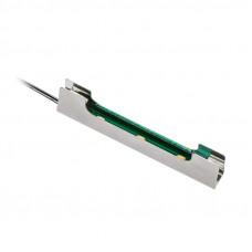 Светильник - Клипса LED металл для стекл. полки голубой 12v, 0,24w (Китай)