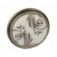 Ручка кнопка Giusti РГ 514 старое золото/керамика (P77.01.H2.D1G)