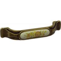 Ручка скоба Giusti РГ 6-96 старое золото/керамика (M22.01.115.D1G)