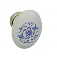 Ручка кнопка Giusti РГ 15 старое серебро/керамика (P02.20.90.15G)