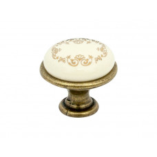 Ручка кнопка GIFF GP193 античная бронза/фарфор