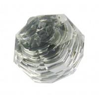 Ручка кнопка Giusti РГ 274 хром глянцевый/стекло (WPO678.R33.KR02)
