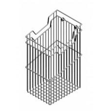 Starax Корзина для белья навесная 430х290х500 хром