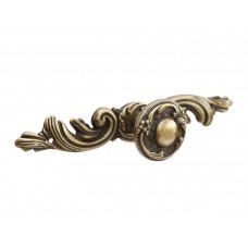 Ручка кнопка+накладка GIFF7/144 античная бронза