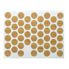 Конфирмат заглушка самоклейка WEISS глянец бамбук 1304