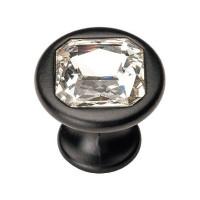Ручка кнопка Ozkardesler TASLI SIMGE черный матовый/камень