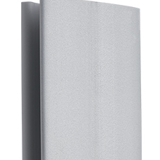 Цоколь ПВХ Korner Угол универсал алюм. сатин H=150