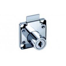 "Замок ""квадрат"" для ящиков 19 мм, хром, ломан. ключ, Hafele (замок+секрет+кольцо)"