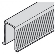 Hafele SLIDO CLASSIC 40-120 P Шина низ, L=1500мм, пластик черный (для межкомн. дверей)