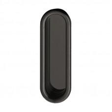 Ручка врезная, пластик, черная 26х78мм, Hafele