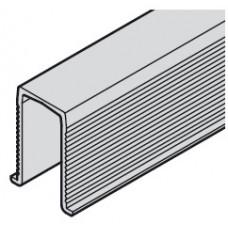 Hafele SLIDO CLASSIC 40-120 P Шина низ, L=1000мм, пластик черный (для межкомн. дверей)