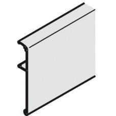 Hafele SLIDO CLASSIC 40-120 L Заглушка-профиль R-90мм, L-2000мм, серебро