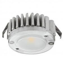 Светильник LED 2040 кругл. 12V / 1,5W алюм., теплый белый, Hafele