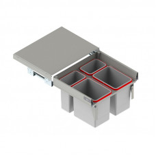 Ведро-контейнер MAXIMA H=350 (564-568х465х370), двойное (2х6л+2х15л) L-500, Rejs
