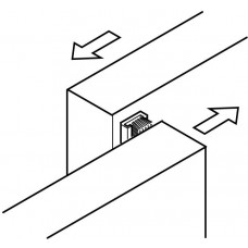 Hafele Щетка 9мм, L= 2500мм для раздвижной системы под профиль (25859)