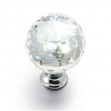 Ручка кнопка GTV Crystal Palace D=40 хром/кристалл