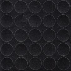 Конфирмат заглушка самоклейка FOLMAG Черная корка 327 - 25 шт/лист