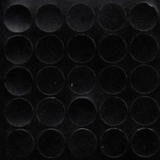 Конфирмат заглушка самоклейка FOLMAG Черная структура 324 - 25 шт / лист