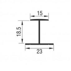 Горизонтальный профиль под ДСП  для раздвижной системы M03 SRG 100, L=3000мм
