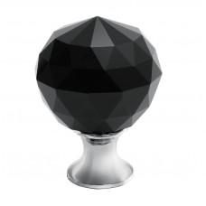 Ручка кнопка GTV Crystal Palace D=30 хром/черный кристалл