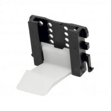 Ножка кухонная AXILO -Держатель цоколя для 16мм ДСП, белый-черный, Hafele