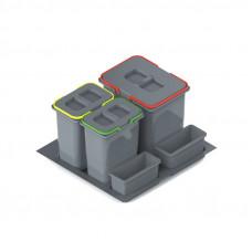 Ведро-контейнер PRACTIKO 60 двойное (1x15л+2х7л), Rejs