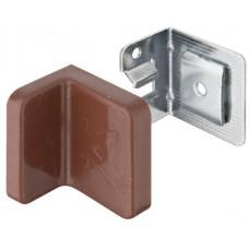 Навес для шкафов, заглушка пластиковая цвет: коричневый, нагрузка 90 кг на пару, Hafele