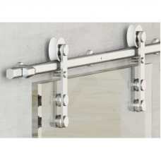 Амбарная система для межкомнатных дверей из стекла без доводчика алюминий