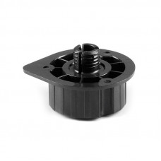 Ножка кухонная разборная Scilm, крепежная часть, черная