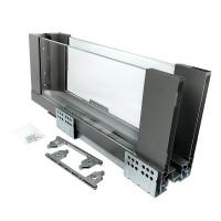 ERGO BOX  графит  L=450 H= 171 Linken System со стеклянными боковинами