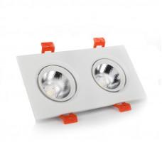 Светильник LED потолочный белый двойной 5W угол поворота 45* 4100К EH-CLM-03