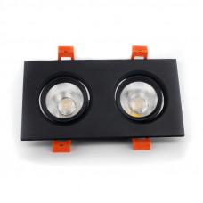 Светильник LED потолочный черный двойной 5W угол поворота 45* 4100К EH-CLM-04